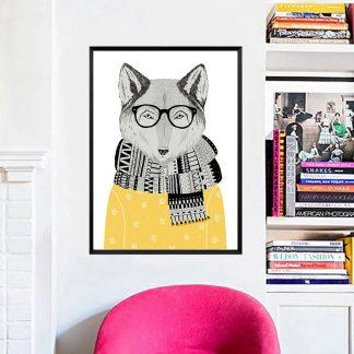Leinwandbilder Tiere Wolf für Wohnzimmer