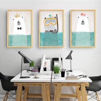 süße Leinwandbilder Tiere für Kinderzimmer