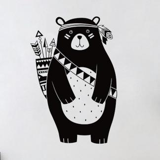 süße Wandtattoos Bär Kinderzimmer