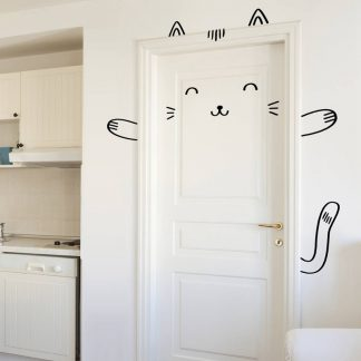 Kinderzimmer Sticker Tür mit Kaninchen