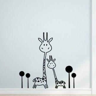 Süße Wandtattoos Giraffe Tiere für Kinderzimmer