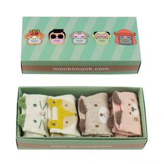 niedliche Sockenbox Damen, süße Frauen Socken, kawaii Geschenkbox im japanischen und koreanischen Stil, monkimonk