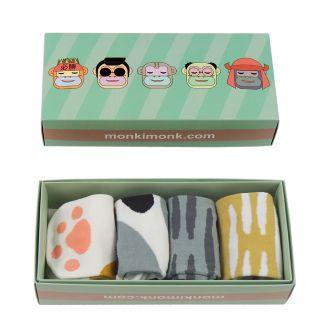 süße Damen Socken mit Katzenpfoten für Katzenliebhaber, niedliche Füßlinge, monkimonk