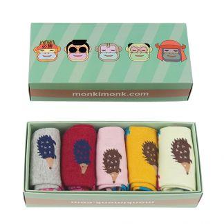 süße Socken für Frauen, Geschenkbox für Freundin, Igel, Niedliche Motive, Kawaii box, monkimonk
