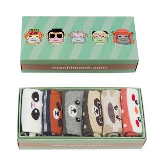 süße Socken mit Tiermotiven für Frauen, Geschenkbox, Sockenbox für Freundin, Geschenkidee, monkimonk