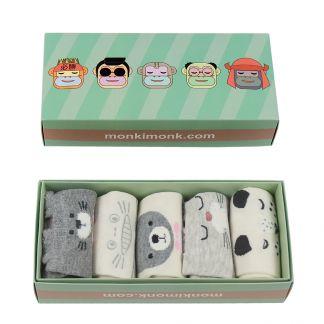 süße Socken Damen mit Stupsnasen, Kawaii Socken, Korean Style, besondere Geschenke für Freundin, monkimonk