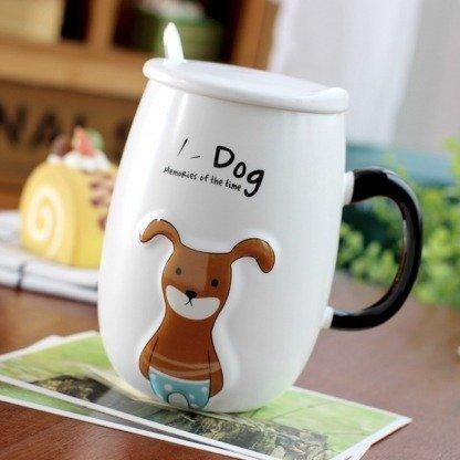 lustige Tasse Hund, süße Hundetassen, besondere Geschenke für Hundeliebhaber, Korean Style