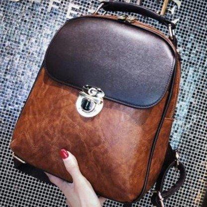schicker Rucksack, koreanische Mode, Brau