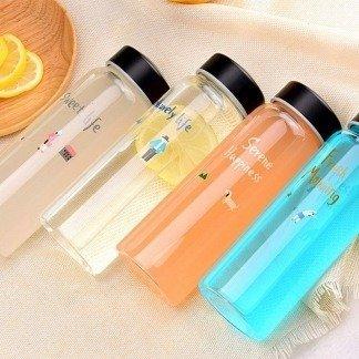 Trinkflaschen Set, bunte süße Flaschen, Korean Style
