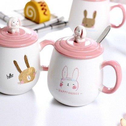 """Tasse Hase """"Pink Bunny"""" 3-teilig für Hasen-Fans"""
