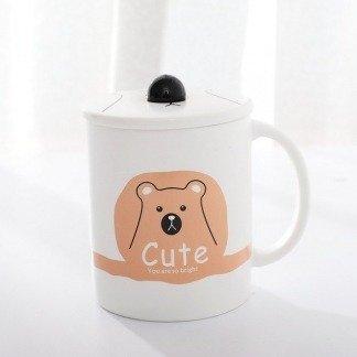 süße Tassen Bär, Kawaii Bärentassen, lustige Geschenkidee für Bärenfans