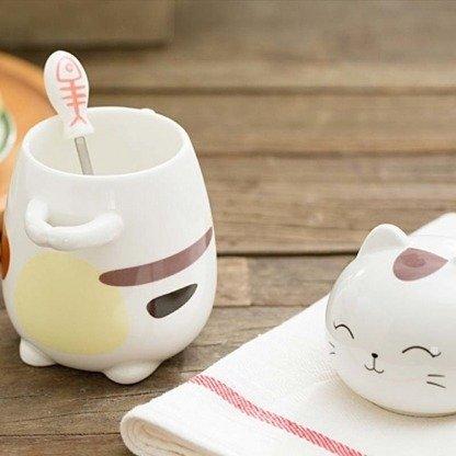 Kawaii Tassen, Katzentassen, Geschenkidee, Japanese Style