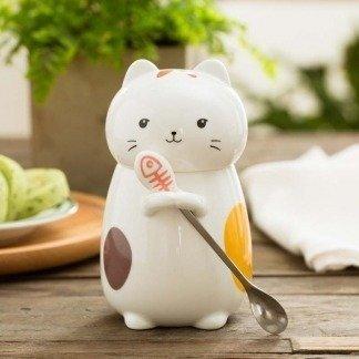 besondere Tassen, Content Cat, kawaii Katze