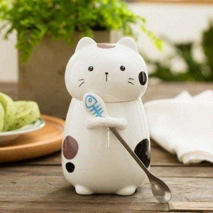 ausgefallene Tassen, Curious Cat, süße Katze