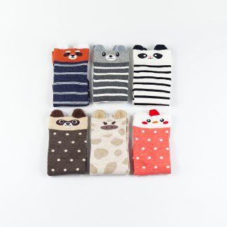 süße bunte Socken Tiere Korean Japanese Style Sockenbox Socken mit Ohren, Sockenbox, Geschenkidee, verschiedene Tieremuster