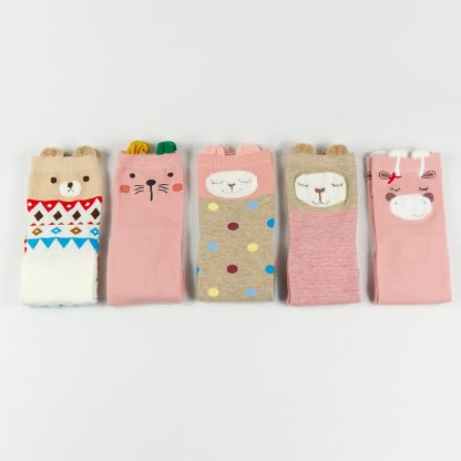 süße Socken mit Ohren bunt Japanischer und Koreanischer Stil, Sockenbox, Geschenkidee, Pastell, Rosa