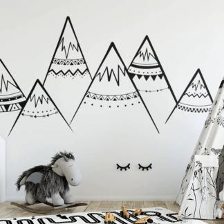 süße Wandtattoos Berge Natur für Kinderzimmer