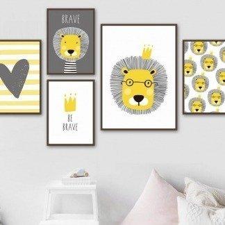 süße Wandbilder für Kinderzimmer und den Löweliebhaber