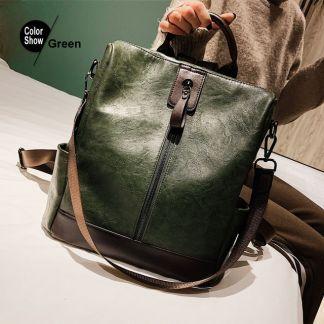 Schöner Damenrucksack Grün, Korean Style