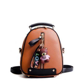 Kleiner Rucksack, süße Geschenkidee, koreanische Mode, Braun