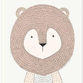 "Metall Poster ""sweet lion""- süße Löwe- sweet lion"