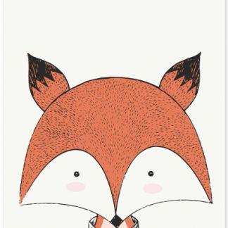 """Metall Poster """"Sweet Fox""""- süßer Fuchs"""