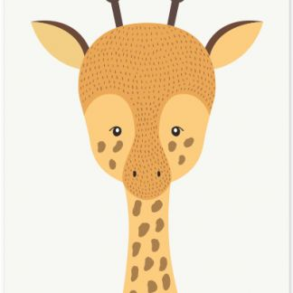 "Metall Poster ""Sweet Giraffe""- süße Giraffe"