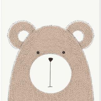 """Metall Poster """"Sweet Bear""""- süßer Bär"""