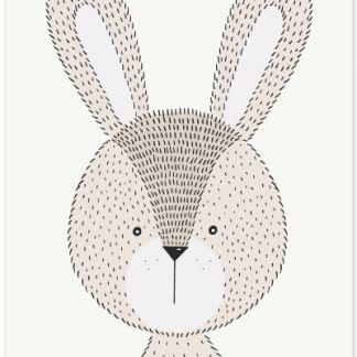 "Metall Poster ""Sweet Rabbit""- süßes Kaninchen- Hase"