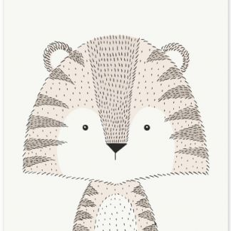 Metall Poster Sweet Tiger- süßer Tiger