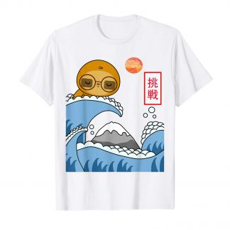 Surfer Faultier, Kanagawa Welle, Surfboard, Kawaii Shop Deutschland, Shirt