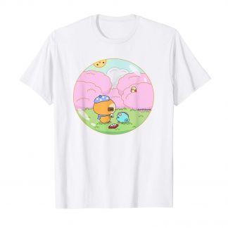 Titoph das Picknick Faultier und Chamäleon, Sakura Kirschblüten, Kawaii Shop Deutschland, süßes T Shirt