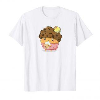 Bubble Tea Muffin Cupcake Chameleon, Kawaii Shop Deutschland, T Shirt, Süß und Niedlich