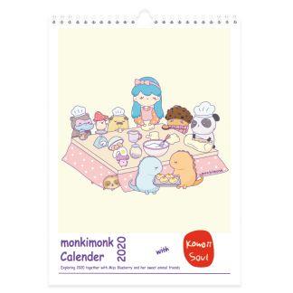 monkimonk Wandkalender 2020 Cover