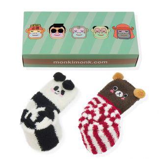 Panda und Bär Kniestrümpfe