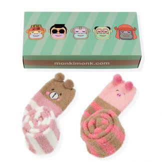 Pink Power Bär und Schweinchen Kniestrümpfe