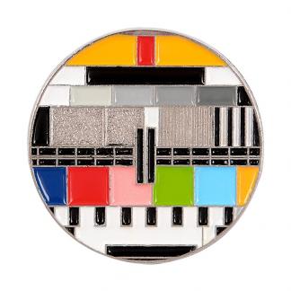 enamel pin vintage television Fernseher nostalgic
