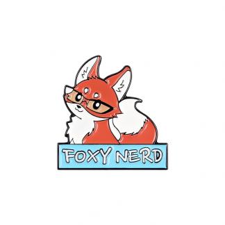 Nerdy Fox Enamel Pins