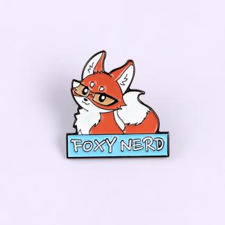 Nerdy Fox Enamel Pins Purple