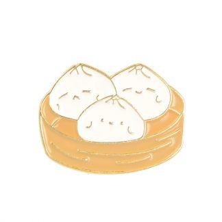 Kawaii Steamed Baozi Dumplings Enamel Pins
