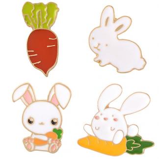 "Emaille Anstecker ""Hasenwelt"" Rabbit World Enamel Pin Kawaii Shop"