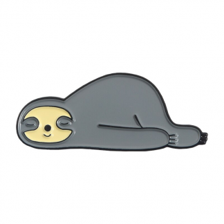 "Emaille Anstecker ""Belly Sleeping Sloth"" Sloth Enamel Pin Kawaii Shop"