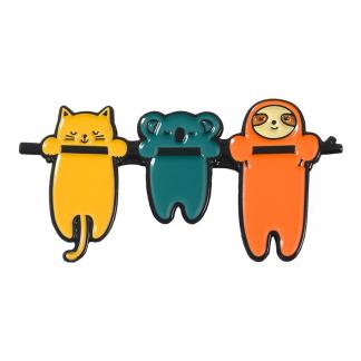"Emaille Anstecker ""Keep Hanging Animals"" Sloth Enamel Pin Kawaii Shop"