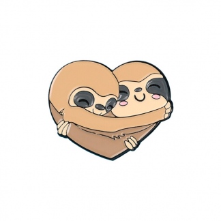 """Emaille Anstecker """"Sloth Cuddle Love"""" Sloth Enamel Pin"""