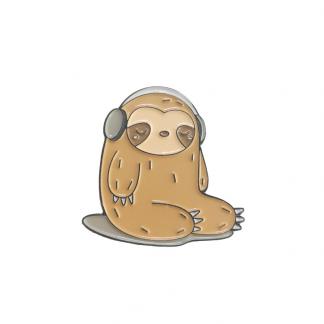 "Emaille Anstecker ""Music Sloth"" Sloth Enamel Pin Kawaii Shop"