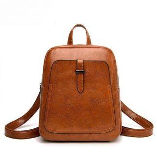 "Rucksack ""Plain Flex"" Backpack Kawaii Shop Brown"