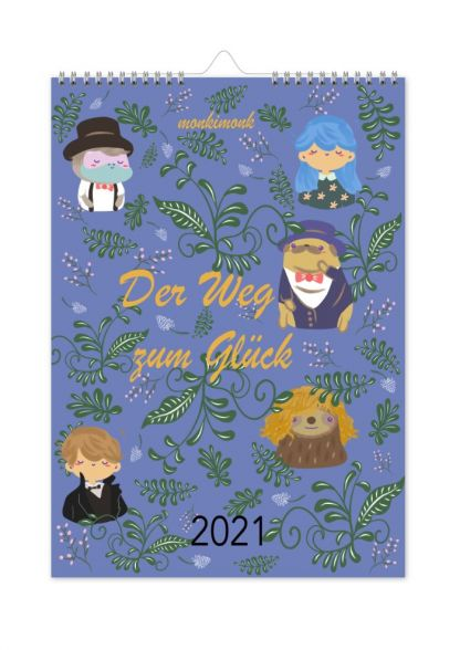 monkimonk süßer Achtsamkeit Wandkalender 2020 Cover Der Weg zum Glück