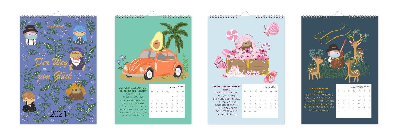 monkimonk homepage Kalender der Weg zum Glück