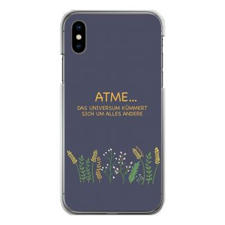 "Handyhülle ""Atme, das Universum kümmert sich um alles"" für Modell iPhone"