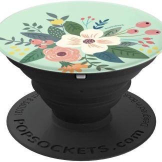 monkimonk Blumen Mix - PopSockets Ausziehbarer Sockel und Griff für Smartphones und Tablets